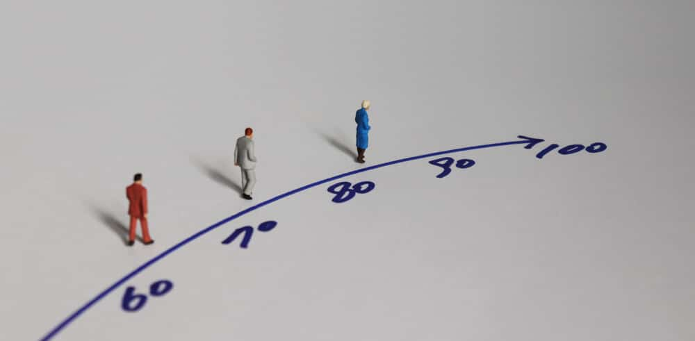 Miniature people and the concept of an aging society.