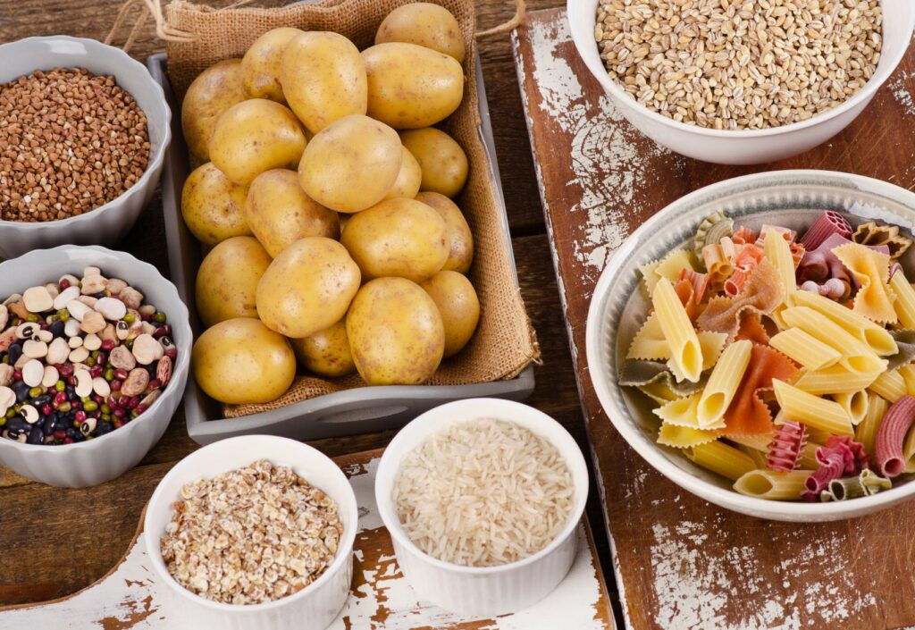 A spread of simple and complex carbohydrates.