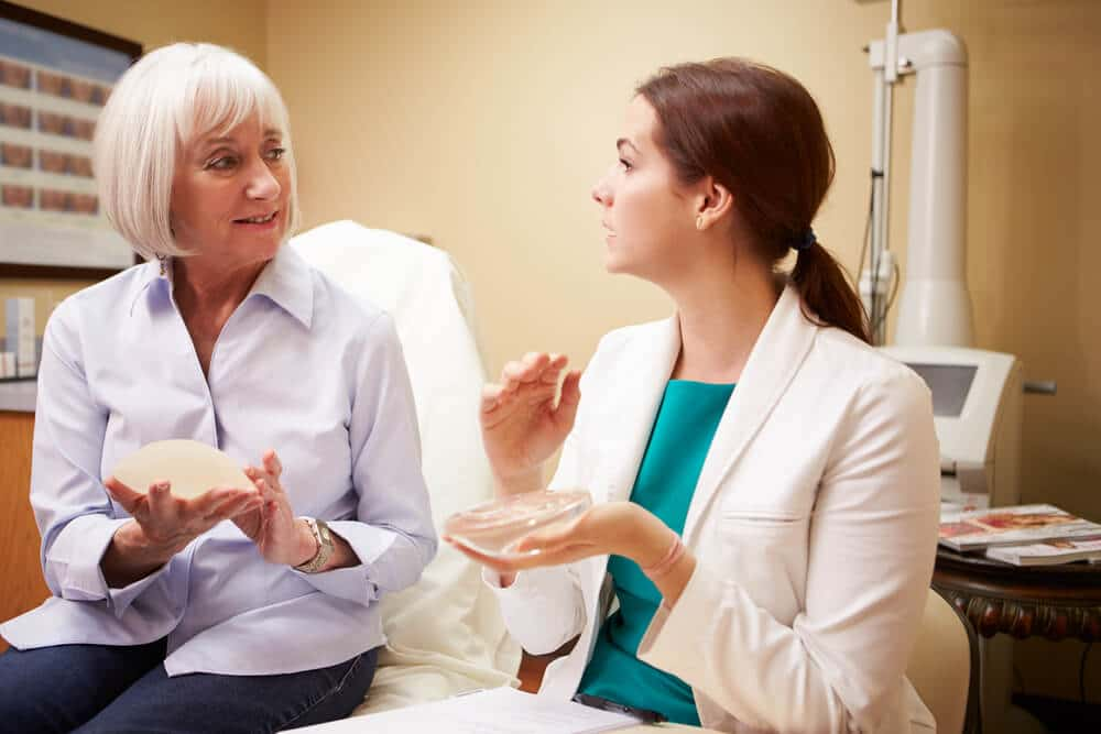 Woman Discussing Breast Reconstruction With Plastic Surgeon